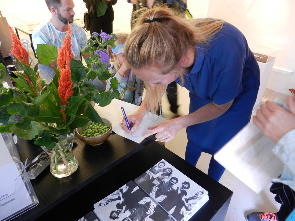 The launch of Ditte Lyngkær Pedersen's new book 'Laughter' at Galleri Image.